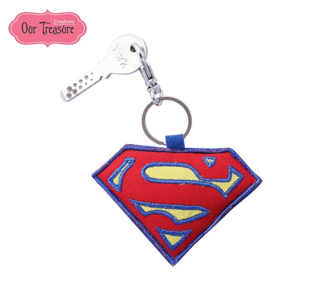 Super Man Logo Keychain
