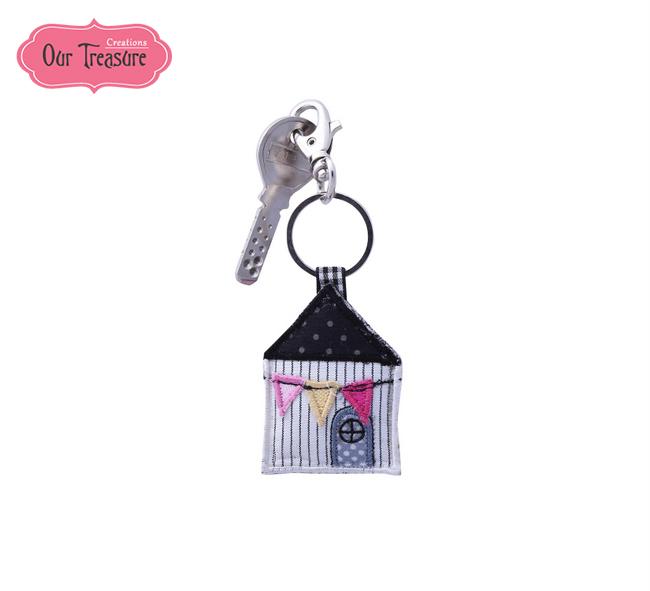 Grey House Keychain