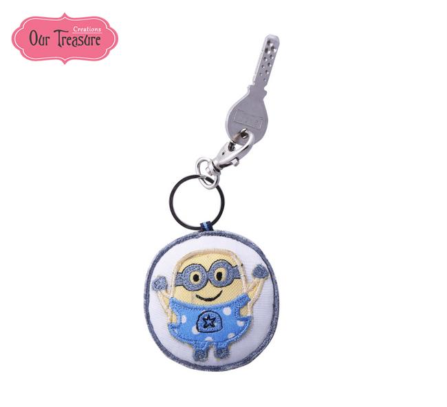 Minion Round  Keychain