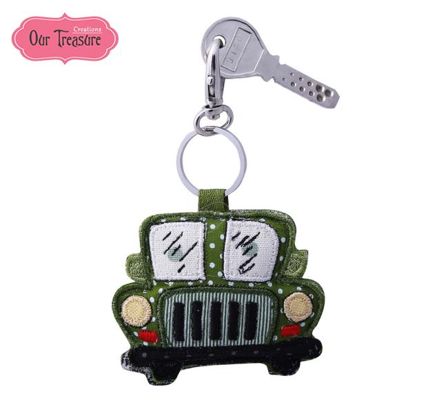 Green Jeep Keychain