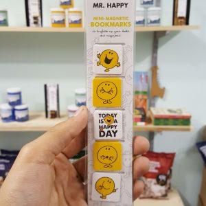 Little Mr Happy Mini Magnetic Clip Bookmark set of 5